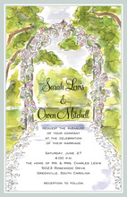 Rose Arbor Invitation