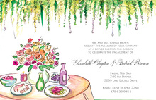 Garden Table Invitations