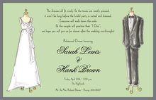 Wedding Dress and Tuxedo Invitation
