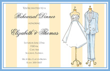 Fashion Gown And Traditional Suit Invitation