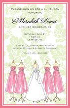 Spring Fling Wedding Gown Bridal Shower Invitations