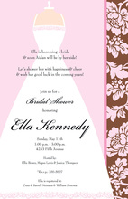 New Bride Floral Border Invitation