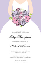 Beautiful Bouquet Bride Lavender Invitations