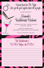 Bachelorette List To Do Before I Do Invitation