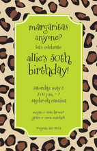 Leopard Border Lime Invitations