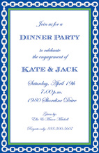 Navy Linked Chain Invitations