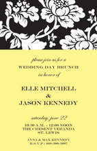 Flora Black Invitations