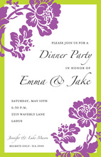Flora Grape Invitations