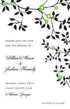 Silhouette Vine Moon Bloom Invitation