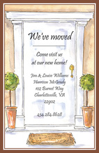 Decorated Classy Entry Housewarming Invitations