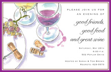 Great Traditional Wine Placesetting Invitations