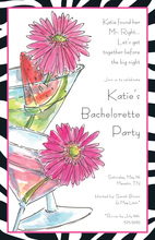 Fabulous Colorful Daisy Drinks Invitation