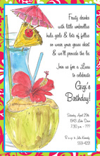 Classy Luau Sips Party Invitations