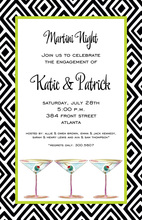 Evening Party Classic Martinis Invitation