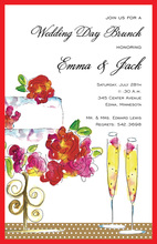 Cake Champagne Invitations