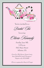 Fabulous Bridal Tea Shower Invitations
