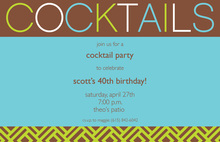 Blue Cocktails Invitations