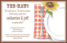 Sunflower Country Placesetting Invitations