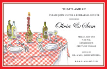 Classic Italian Table Red Border Invitations
