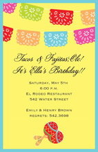 Mexican Banner Yellow Bright Invitations