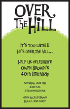 Over The Hill Birthday Invitation