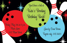 Rock n Bowl Bowling Invitations