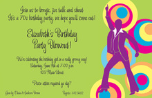 Birthday 70s Party Fever Invitations