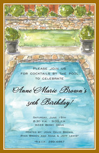Backyard Pool Invitations