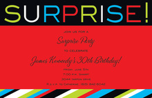 Surprisely SURPRISE! Stripe Invitations