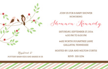 Robin's Nest Baby Girl Shower Invitations