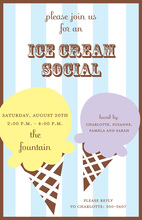 Two Scoops Invitation