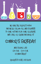 Science Subject Party Invitations