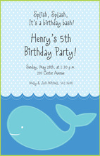 Stitched Whale Invitations