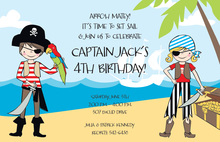 Treasure Pirate Kids Invitation