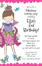 Gril Dress Up Invitations