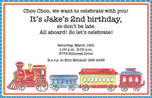 Choo Choo Invitations