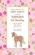 Pony Magic Pink Sugar Invitations