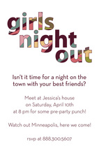 Elegance Girls Night Out Text Style Invitations