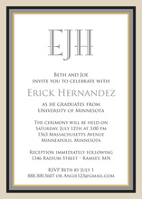 Gray Khaki Border Invitations