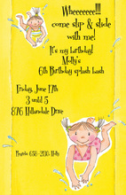 Slip Slide Girl Invitation