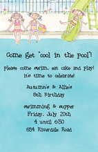 Pool Party Girls Invitation