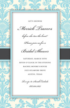 Light Blue Damask Bridal Invitation