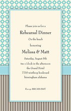 Contemporary Aqua Darling Beach Wedding Invitations