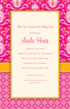 Pink Diva Damask Invitation