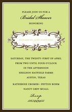 Green Hatfield Invitations