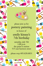 Splatter Painting Invitations
