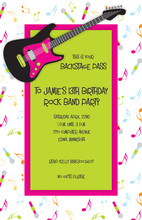 Hot Pink Guitar Invitation