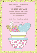 Oven Mitten Bowls Kitchen Party Shower Invitations