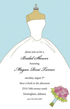 Wedding Dress Bouquet Invitation