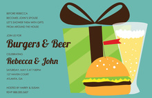 Burgers Beer Invitation